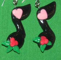 musical note xmas earrings by ladytech