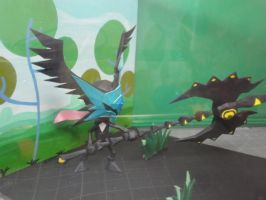Patapon diorama papercraft (Side view) by BRSpidey