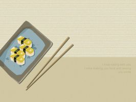sushi food by bricket