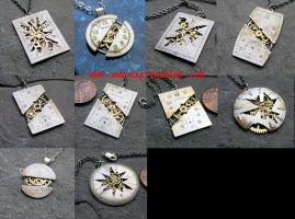 Watch Face (Dial) Necklaces Sept 14 by AMechanicalMind