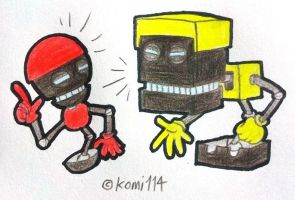 Orbot and Cubot by komi114