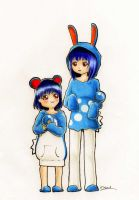 Marril and azumarill by Prailin