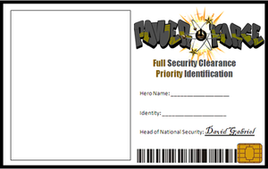 Power Force Identification Card Layout by Clethrow