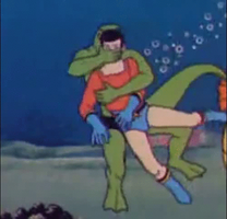 Aqualad captured for Lizardman(gif) by holybearhug