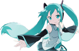 Miku Hatsune Kid rende.. by KnightsWalker912
