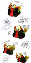 Underfell - Team Rescue Frisk by lyoth737