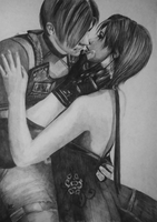 Ada and Leon - Resident evil 4 by PhlegmaticPerson