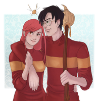 Harry and Ginny by RoroZoro