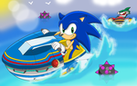 Sonic VS Johnny by sonictopfan