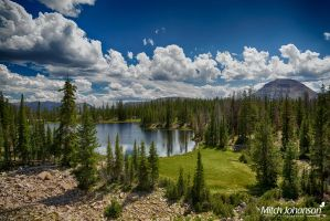 View of Butterfly Lake HDR by mjohanson