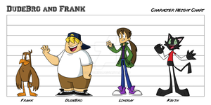 DudeBro and Frank: Height Chart by Sol-Domino