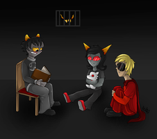 Story time with Karkat by Kiwi-ingenuity123