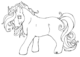 Earth MLP Line art by Fjodor