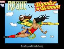 Rogue vs Wonder Woman by forestmoon