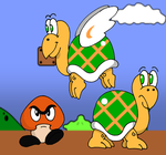 Koopa Troopa Goomba Para Troopa by PariahExileWrath