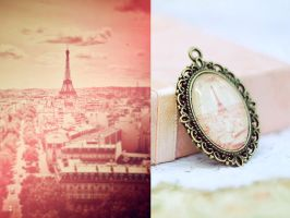 Eiffel Tower Photo Pendant by magnesina