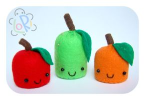 Fruity Pincushions by LoRi-La-Tortuga