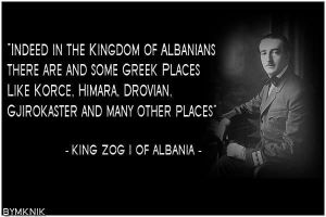 Albanian Quote - King Zog I by Hellenicfighter
