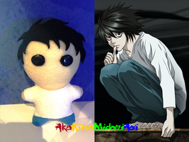 Death Note Plushes: L by AkaKiiroMidoriAoi