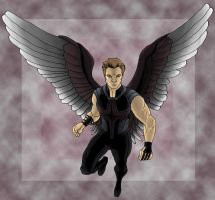 Hawkeye with Wings by kenobisunryder