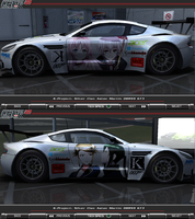 K-Project Silver Clan Aston Martin DBRS9 Itasha v2 by FAT8893