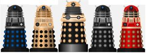 Daleks of the Supreme Council by DoctorWhoOne