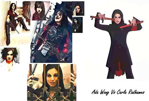 Ada Wong vs Carla Radames RE6 (re-invented) by TauterSele