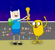 Victory Time with Finn and Jake by 04StartyOnlineBC88