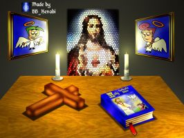 3D Altar Objects with light by BB-K