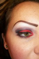Black and Red smokey eye by Sweetie-J