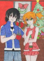 Merry Christmas from Ash and Misty by Kisarasmoon
