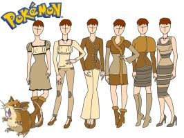 Pokemon fashion: Raticate by Willemijn1991