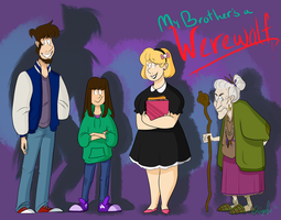 My Brother's a Werewolf Main Character Lineup by The-Happy-Apple