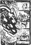 Transformers: Dark Cybertron #1 Page 12 Layouts by curiopraxis