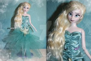 Disney Elsa Doll Repaint | Concept Art Inspired by claude-on-the-road