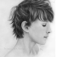 Colin morgan - graphite pencil by Painirl