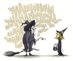 A witch and a wannabe by Ripplen