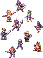 Ark party battle poses by celera