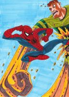 Spidey VS Sandman color by Apollorising