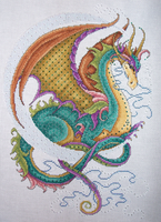 Crescent Moon Dragon by lizardlea