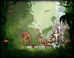 Jungle Scene FINISHED by DAVEAC1117