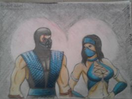 Mortal Kombat 2 - Sub-Zero and Kitana by Rob-Zero