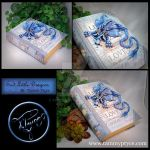 Light Blue Dragon on Medium Believe Book by Tpryce
