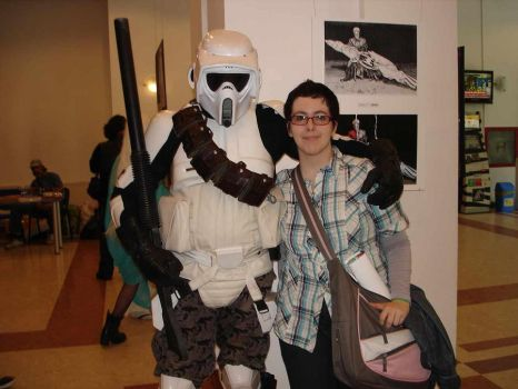 Me and a Stormtrooper by GracefullyLurking