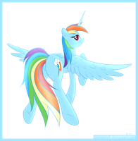 Alicorn Rainbow Dash by JamesHalt