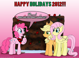 MLP: Happy Holidays 2012 by AniRichie-Art
