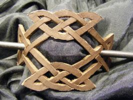 celtic knot hairpin by BacktoEarthCreations