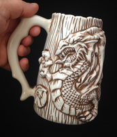 Dragon Beer Mug by kachaktano