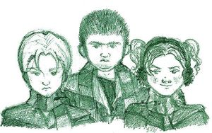 Slytherin Train Sketchies by uh-oh