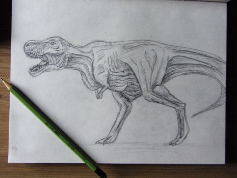 dinosaur sketch done in 20 minutes by KateHubar